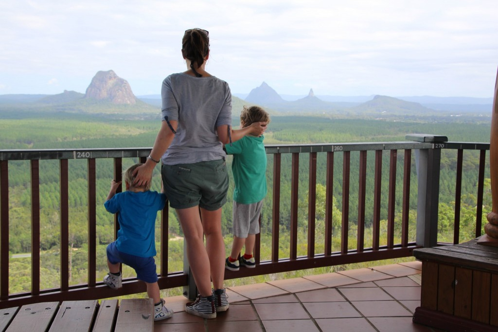 gezin op vakantie naar Australië
