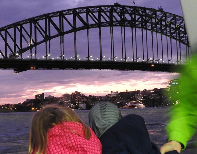 Sydney met kinderen