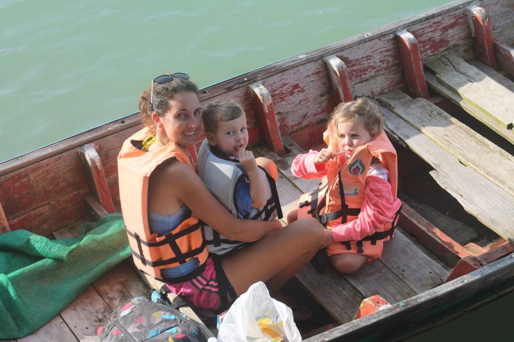 Thailand met kleine kinderen