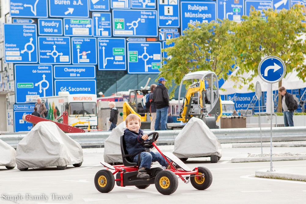 Transportmuseum Zwitserland met kind
