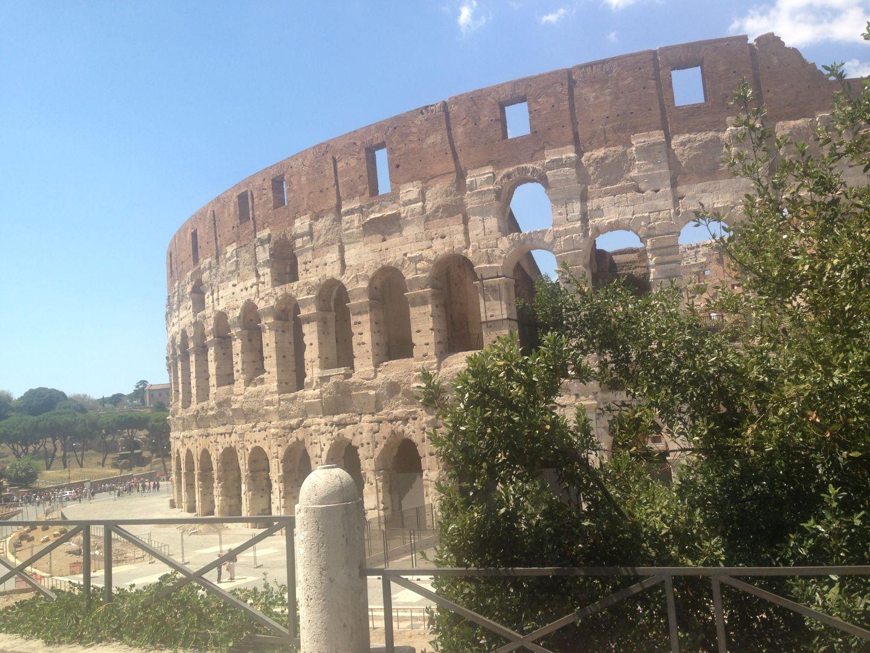 Colosseum Rome met kind