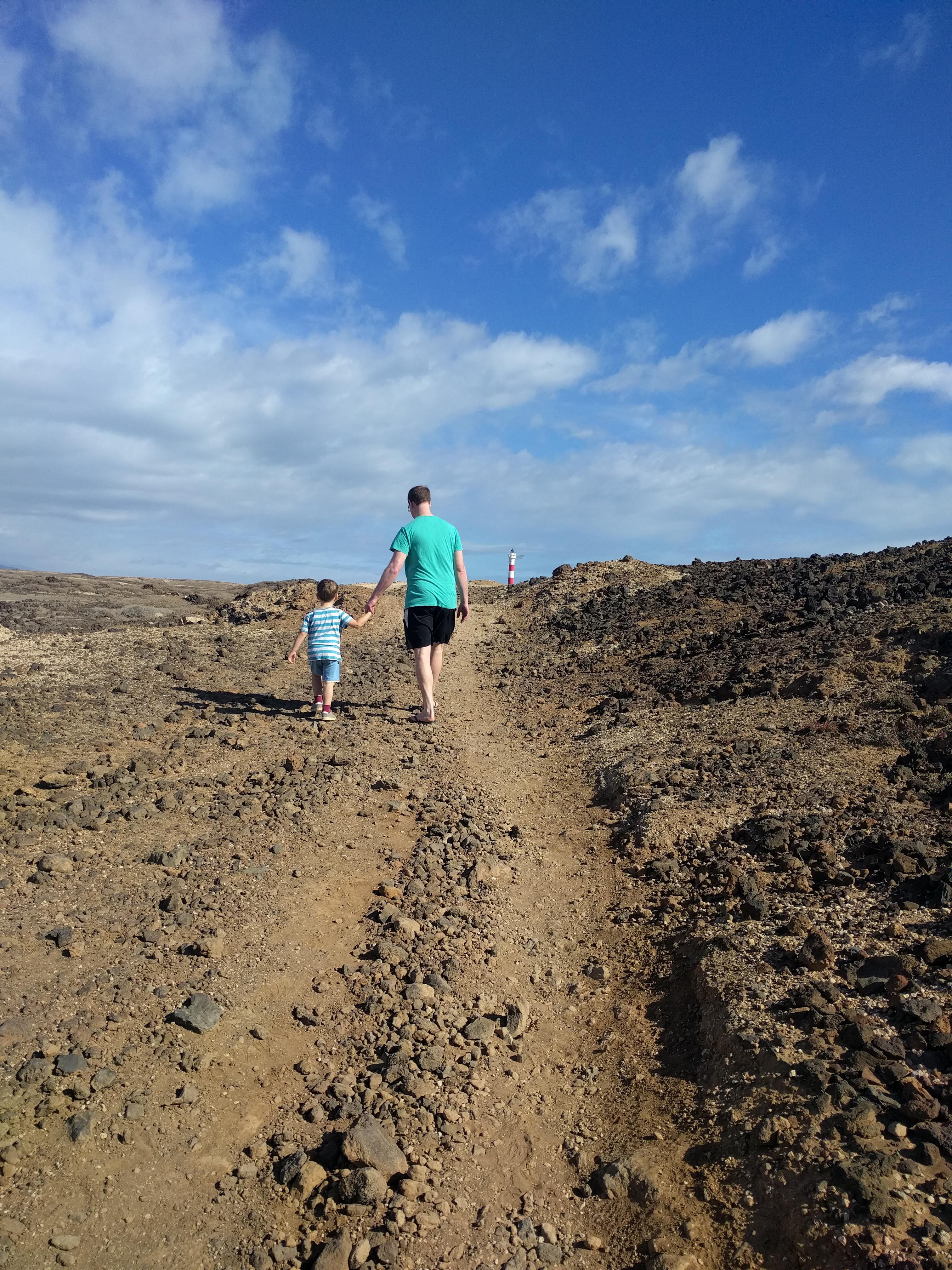 Onderweg naar de vuurtoren op Tenerife