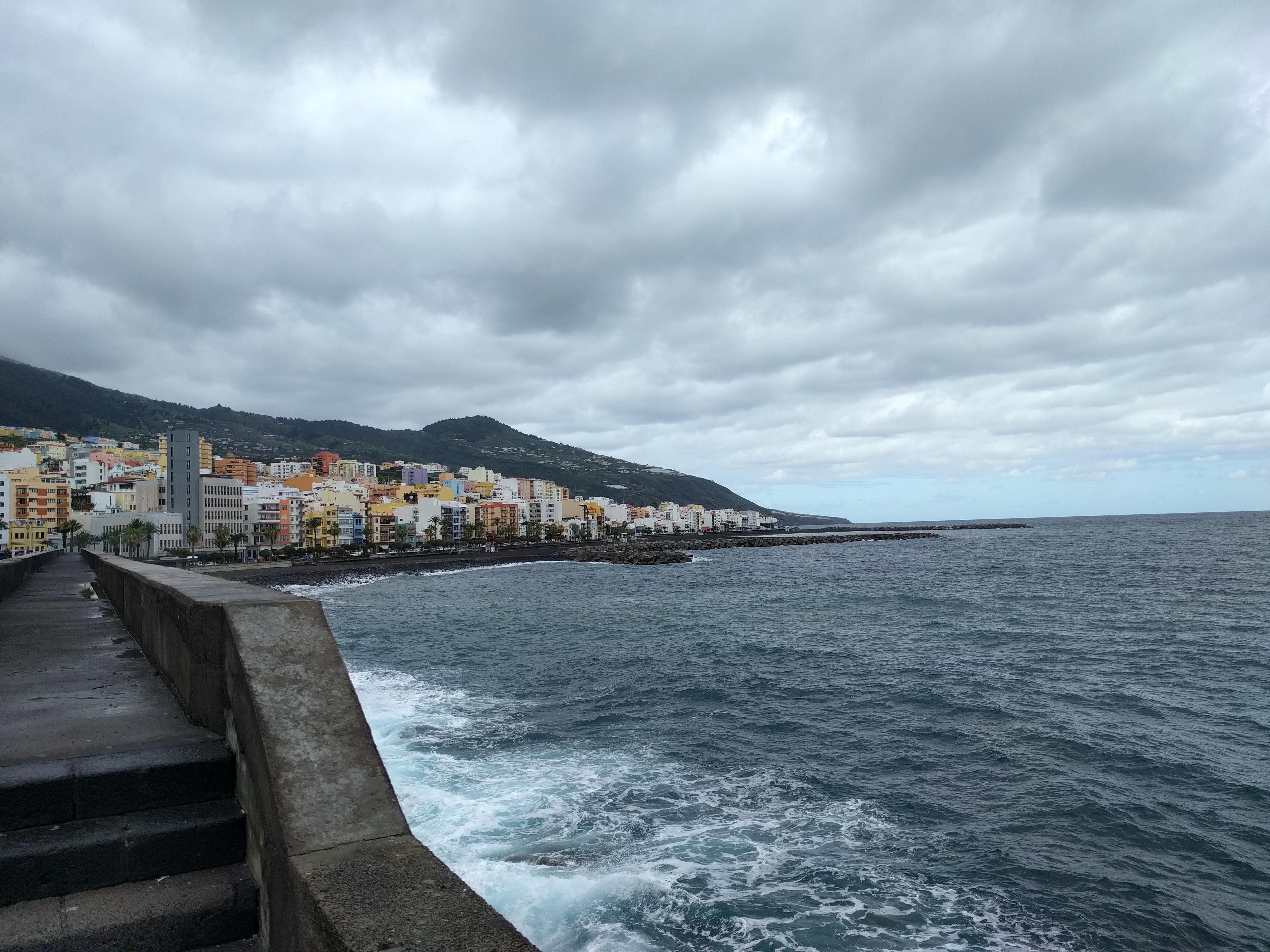 wachten op de boot op La Palma