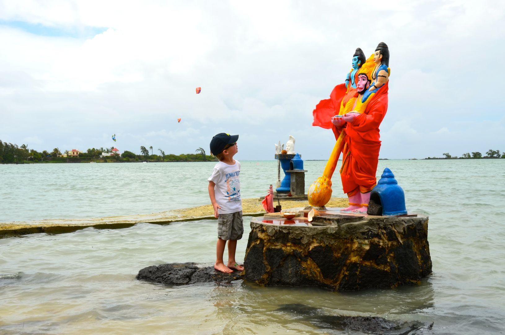Mauritius met kind