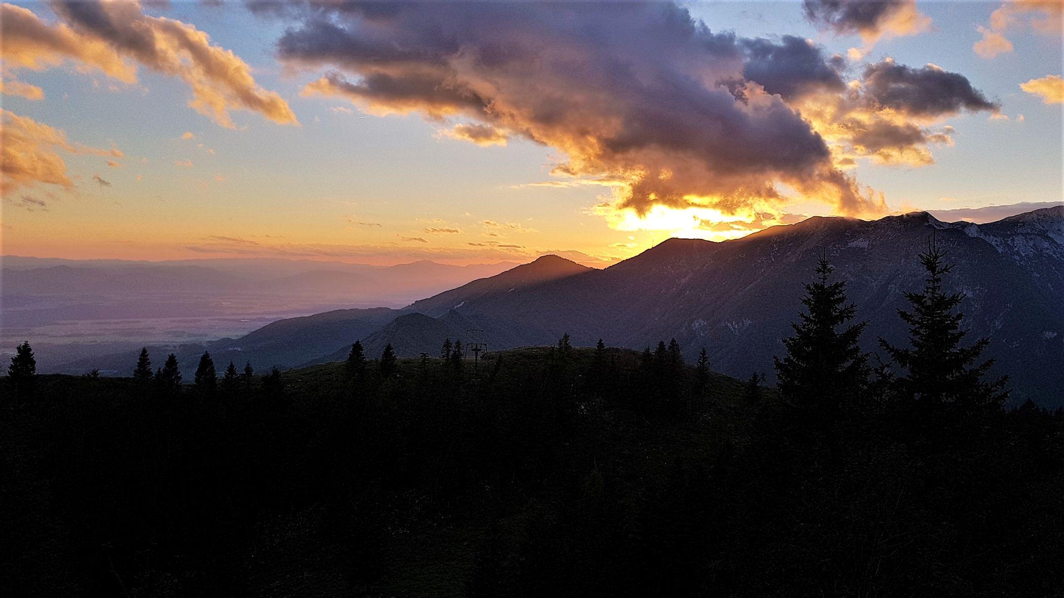 zonsondergang Slovenië