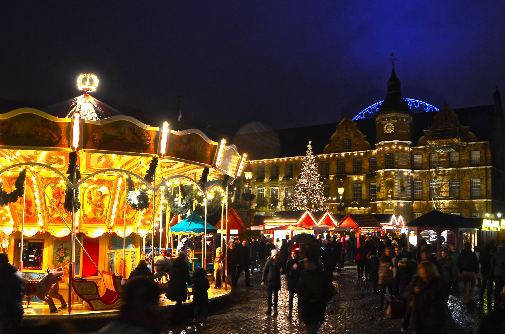 Kerstmarkt op de Marktplatz
