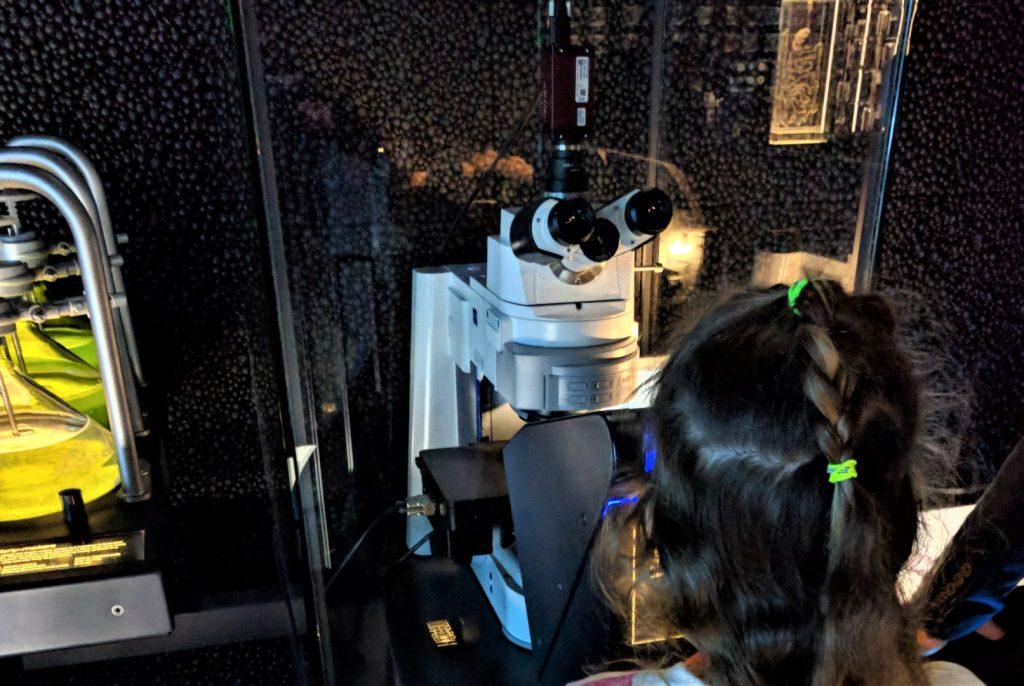 Micropia met kinderen