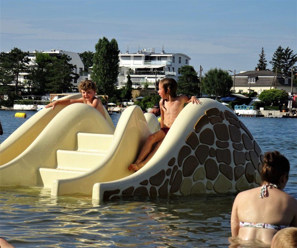 zwemmen in Wenen Alte Donau