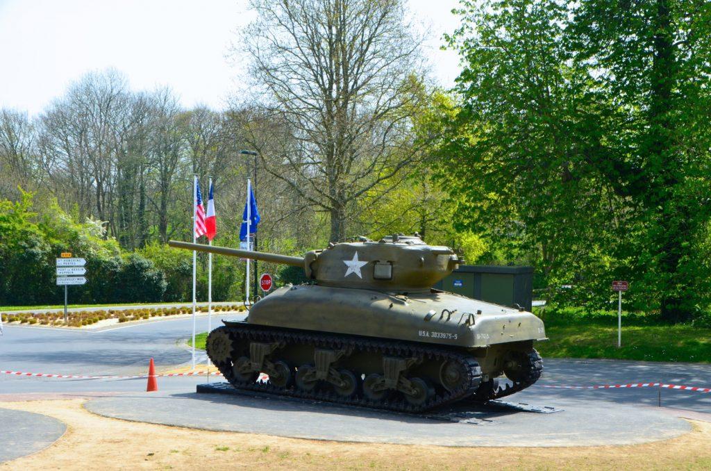 Tank voor museum Overlord