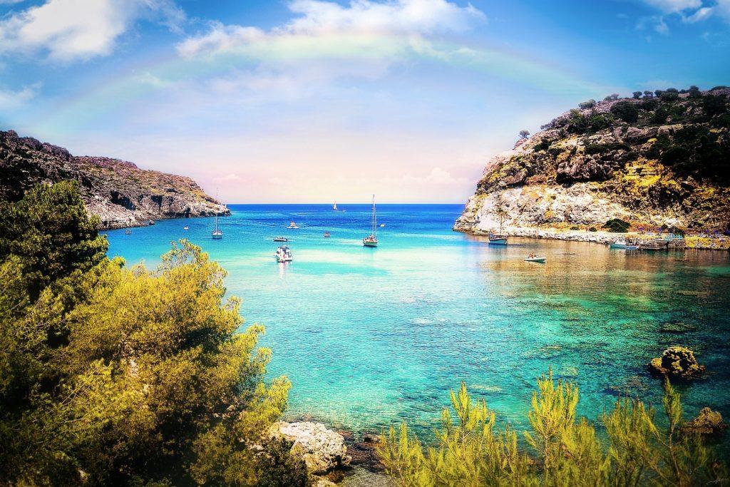 Grieks eiland met familie bezoeken